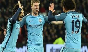 El City golea al West Ham y el United apenas empata con Hull City